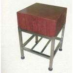 Κούτσουρο μασίφ τετράγωνο με Inox βάση(Για να δείτε τιμή,επιλέξτε διάσταση)